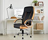 INNOWIN ® Venture High Back Leatherette Executive Office Chair (Black Orange)
