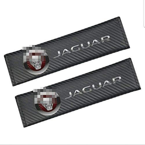 LLFFDC 2Pcs Almohadillas CinturóN de Seguridad para Jaguar, Almohadilla del CinturóN Seguridad AutomóVil CinturóN Seguridad Carbono Protege Tu Cuello Y Hombros Apertura Cortical