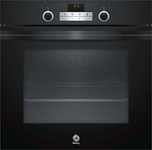Balay 3HB5358N0 - Horno Serie Cristal, 60 x 60 cm, Color Negro