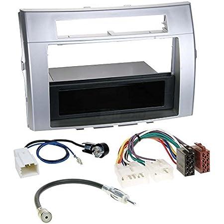 Toyota Corolla Verso 04 09 1 Din Autoradio Einbauset In Original Plug Play Qualität Mit Antennenadapter Radioanschlusskabel Zubehör Und Radioblende Einbaurahmen Silber Navigation