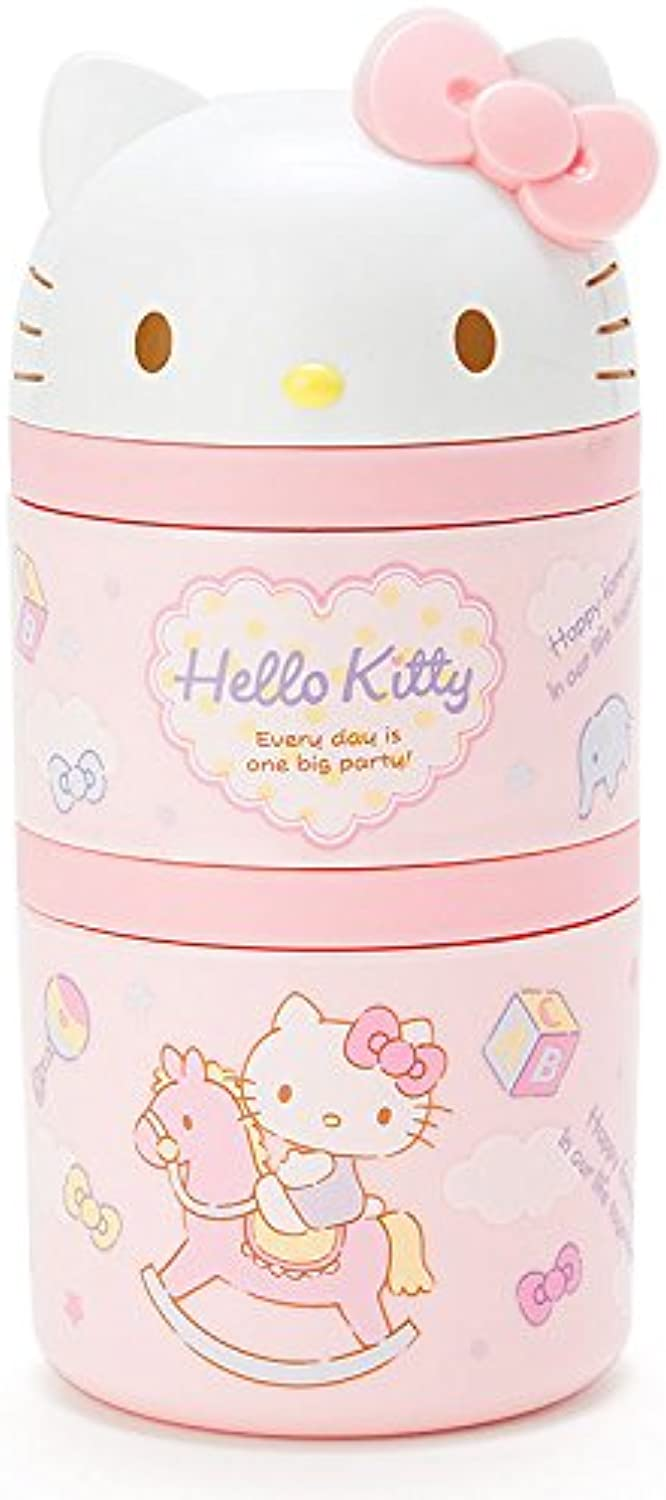 2stage lunch case with Hello Kitty spoon