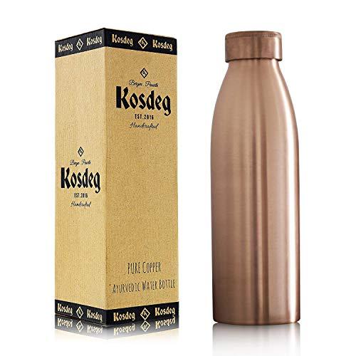 700 ml Gehämmert  Kupfer Wasserflasche Auslaufsicher Ayurveda Gesundheit Benifit