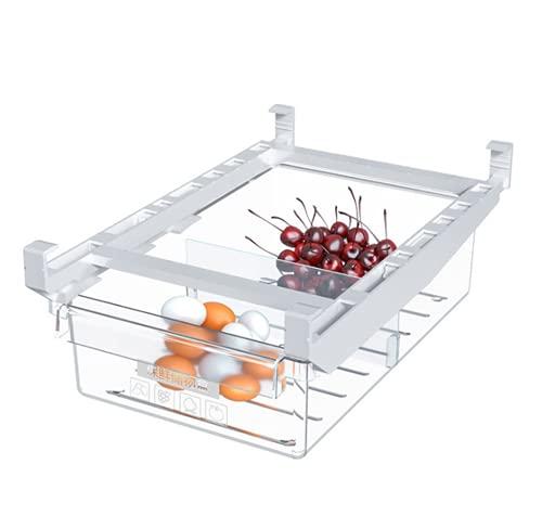 Ncheli Refrigerador Cajón Organizador, Caja de almacenamiento para nevera, cajones de diseño único con cajón extraíble para nevera, organizador para verduras y frutas y huevos