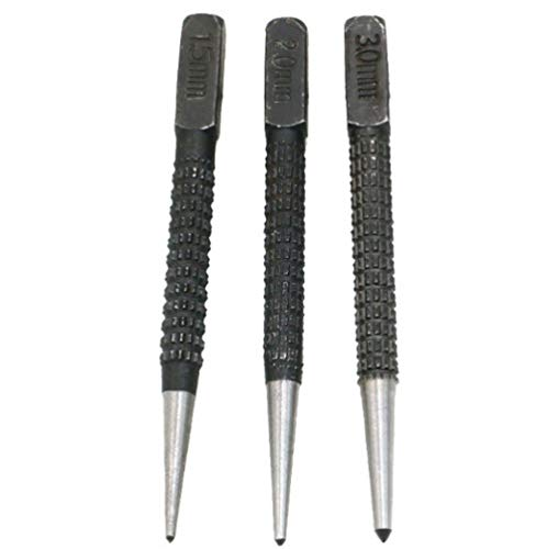 Non Slip Center Punch Set Alloy Steel,Metal Wood DIY Marking Tool Marker,For Proofing Hole Drilling Tool 10cm Length 3pcs