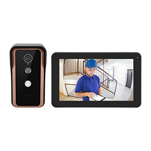 Timbre con Video Timbre Digital, para aplicación móvil con Monitor,(European Standard (100-240v))