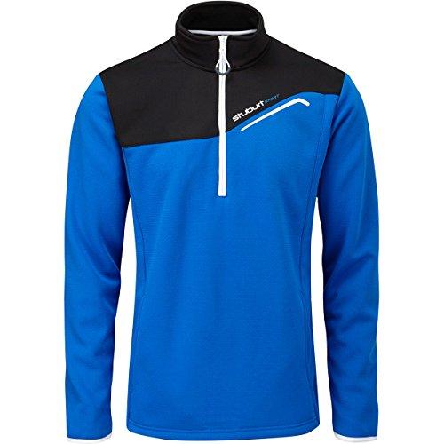 Stuburt 2015 Cyclone - Pullover termico in pile, mezza zip, da uomo, colore: Blu Imperial