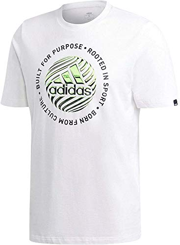adidas M Hyprrl Slgn T T-Shirt Homme White FR: M (Taille Fabricant: M)