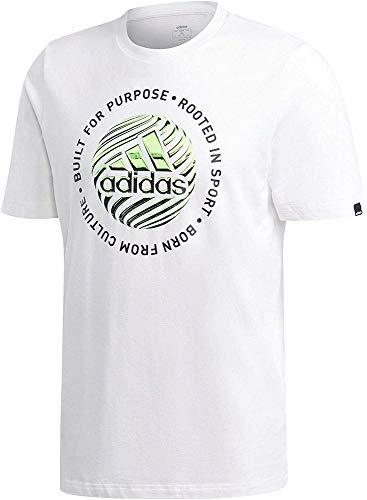 adidas M Hyprrl Slgn T T-Shirt, Uomo, White, M