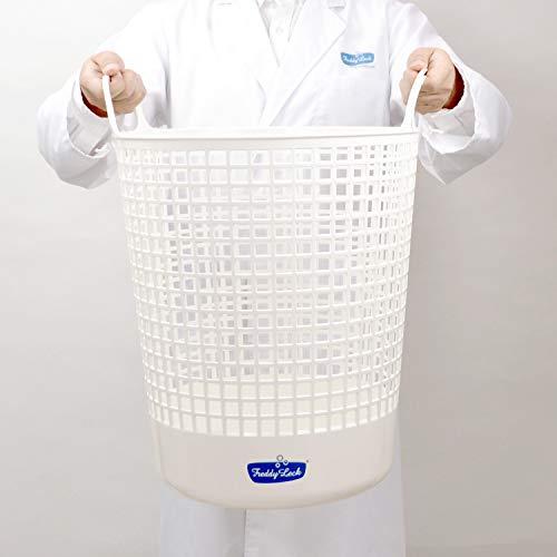 同じく「Freddy Leck」のこちらは直径約40×H52(cm)のたっぷりとした容量が頼もしいビッグサイズ。洗濯物が多いお家や、洗濯機のスペースから干場まで上下階での移動がある場合にとっても便利です。