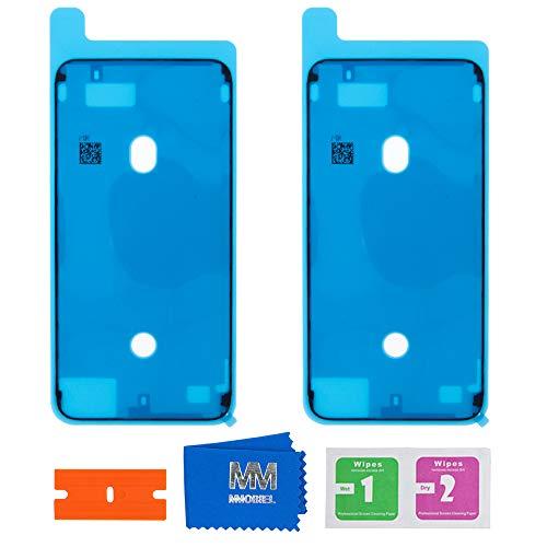 MMOBIEL 2X wasserdichte Folie Klebefolie LCD Display Adhesive Sticker Kompatibel mit iPhone 7 Plus 5.5inch (Schwarz)