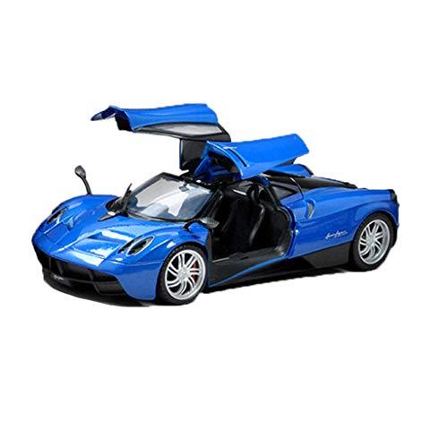 GAOQUN-TOY Modèle de Voiture Pagani Zongta 1:18 Modèle de Voiture en Alliage de Simulation de Voiture de Sport Pagani Zongta Zonda F (Couleur : Bleu, Taille : 25.6cm*11.3cm*6.5cm)
