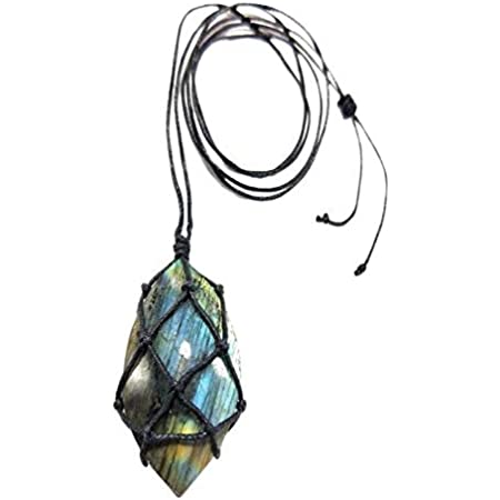 Hand wrapped labradorite heart necklace