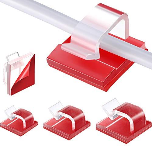 120 Stück Klare Selbstklebende Kabel Kabelclips Autokabel Organizer Halter Langlebiger Starker Kabel Management Clip für Hause, Büro und Auto (0,55 Zoll, 0,65 Zoll, 0,78 Zoll)
