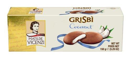 6x Vicenzi Grisbi Cocco 150g Kekse mit Kokosnuss creme cookies kuchen riegel