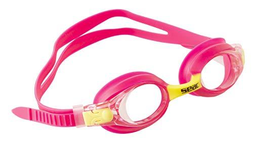 SEAC Bubble, Occhialini Nuoto da Piscina Unisex Bambini, Rosa, S
