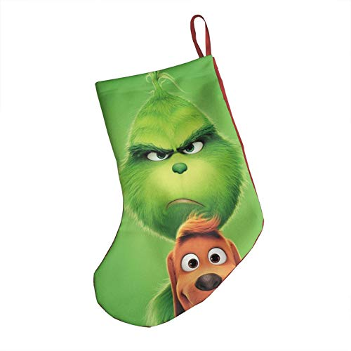 TINNY SOUL The Grinch Stole Christmas Christmas Stocking Halloween Red Cuff Printing Stockings Home Decor Christmas Ornament Family Decorations Holiday Merry Christmas