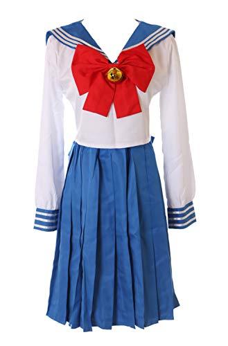 Kawaii-Story Disfraz MN-76 Sailor Moon Usagi Bunny azul blanco Japn uniforme escolar traje 5 piezas disfraz cosplay disfraz disfraz (XXL)