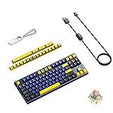 Akko Horizon ergonomica Tastiera da gioco meccanica 87 copritasti cablati Plug-and-play US...