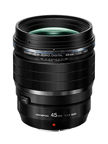 Olympus M.Zuiko Digital ED 45mm F1.2 PRO Objektiv, lichtstarke Festbrennweite, geeignet für alle MFT-Kameras (Olympus OM-D & PEN Modelle, Panasonic G-Serie), schwarz