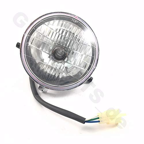 SCHEINWERFER LAMPE/EINSATZ für 2- & 4-TAKT RETRO ROLLER 50 z.B.für viele RETRO ROLLER MODELLE BAOTIAN BT49QT MOTOWORX JONWAY BENZHOU YIYING YY50QT