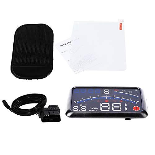 Car Hud Heads Up Display de 5.5 pulgadas, Universal F4 MPH velocímetro de alarma de velocidad, Pantalla Head up MPH/KM/h para la navegación del coche