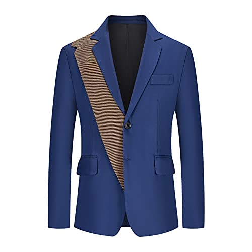 YingeFun Suit for Men Jacket Classic Separate Coat Business Evening Dress Suit Formal Wedding Party Banquet Prom Fall Blue