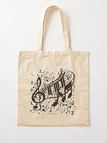 Générique Abstract Symbol Musical Notenschlüssel | Einkaufstaschen aus Segeltuch mit Griffen, Einkaufstaschen aus nachhaltiger Baumwolle