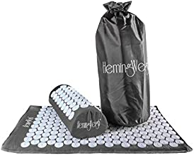 Complete Acupressure Mat and Pillow Set (Gray) with Carry Bag
