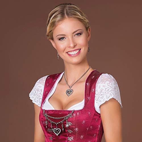 Alpenflüstern Damen Dirndl-Charivari Strassherz altsilber-farben DCH00600095 - 2