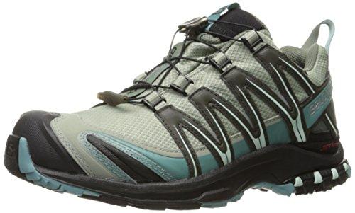 Salomon Women's XA Pro 3D Cs Wp Trail Running Shoes, Shadow/Black/Artic, 8.5