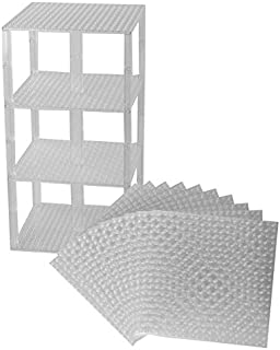 """Strictly Briks Classic Stackable Baseplates 6"""" x 6"""" Brik Tower 100% Compatible with All Major Brands 
