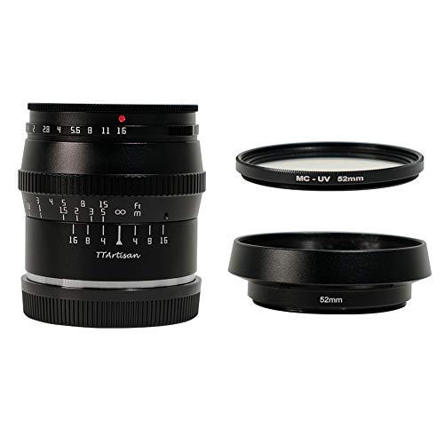TTArtisan Objetivo de enfoque fijo de gran apertura F1.2 APS-C de 50 mm para cámaras Panasonic/Olympus M4/3 Micro 4/3