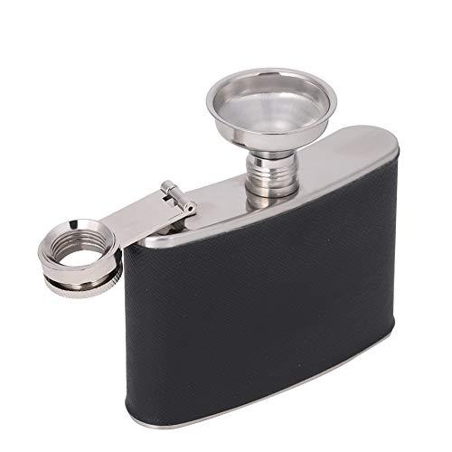Frasco para licor para hombre con tapón de Rosca, Frasco de la cadera mini botellas alcohol petaca de acero inoxidable a prueba de fugas con embudo para whisky, ron, vodka(4oz/120ml)