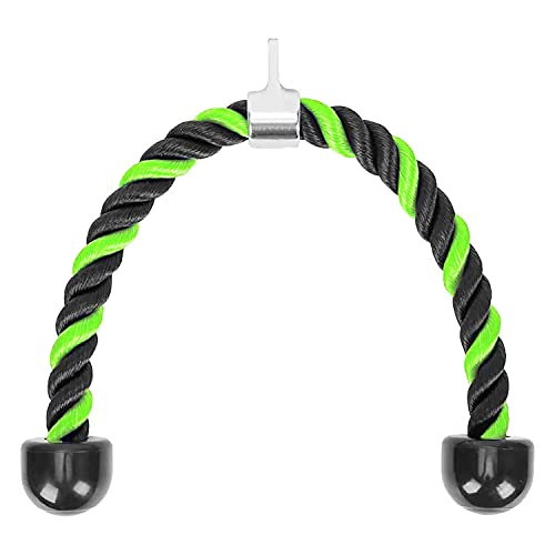 Kaxofang Tricep Rope 36 Pulgadas Fitness Attachment Cable Machine Tire hacia Abajo...