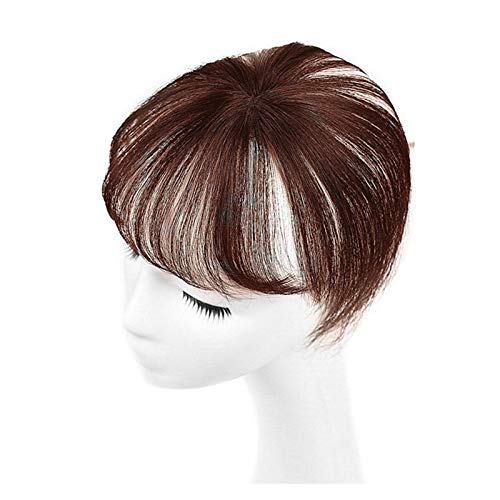 MXDLSM Pony Haarteil Pony Hair transparente Spitze 3D Pallsclip in der Luft Bang Fransen Haar Haare (Color : Light Brown)