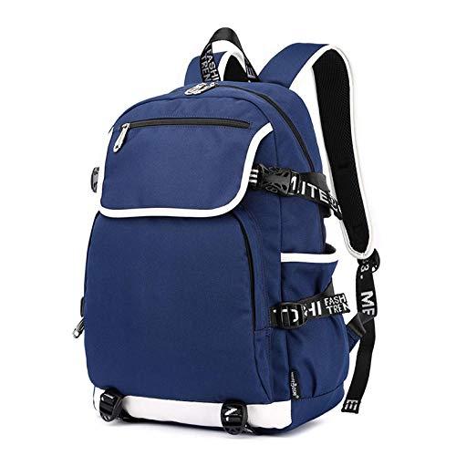dinitianer Mochila USB de Carga Mochila Escolar portátil Bolsa de Negocios descargar Gran Capacidad Azul