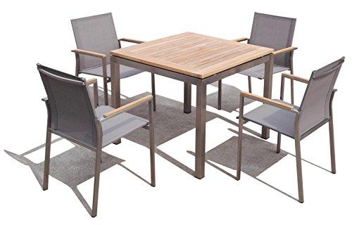 Matodi Nexus Gartenmöbel Set 5 teilig Sitzgruppe Edelstahl