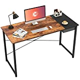 Cubiker Computer Desk 55' Home Office Writing Study Laptop Table, Modern Simple Style Desk with Drawer, Rustic Black