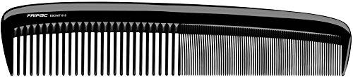 Fripac Ebonit Damen-Haarschneide-Kamm 610 aus Naturkautschuk (antistatisch), für Scheren- und Maschinenschnitte bei Frauen, Länge 23 cm, für mittellanges und langes Haar, abgerundete Form, extra groß