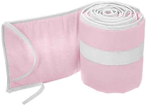 Why Should You Buy Babykidsbargains Stripe Cradle Bumper, Pink/White, 18 x 36