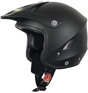 XuBa Unisex Outdoor Motorcycle Helmet Half Face Protection Helmet Capacete Elegant Black XXL