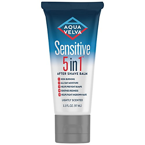 Aqua Velva 5 in 1 Sensitive After Shave Shave Balm for Men, Facial Moisturizer, 3.3 Ounce