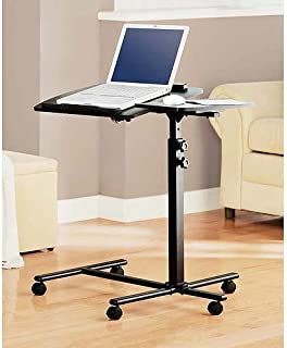Deluxe Laptop Computer Mobile Cart / Table / Stand - Black by Mainstays