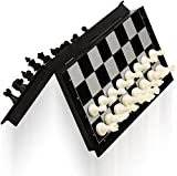 High Quality Made Of Durable International Standard Non Toxic Materials With Smooth Surface . The well detailed magnetic chess pieces are white and black solid plastic and come with felt on the bottom. Excellent Travel Companion For Players. Build Up...