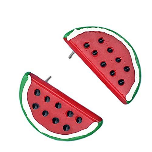 Babysbreath17 Oído Mujeres Resina sandía Pendientes Compromiso de la Boda de Frutas Banquetes Espárragos Pendientes Mujer cumpleaños Regalo