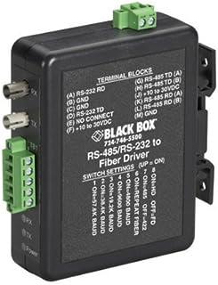 Black Box Industrial Din Rail Rs-232/rs-422/rs-485からファイバードライバーへ - 1 X St Ports - レール取り付け可能