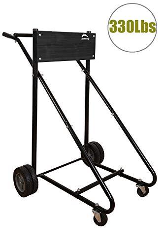 LEADALLWAY Outboard Boat Motor Stand Display Carrier Cart (Black u Type)