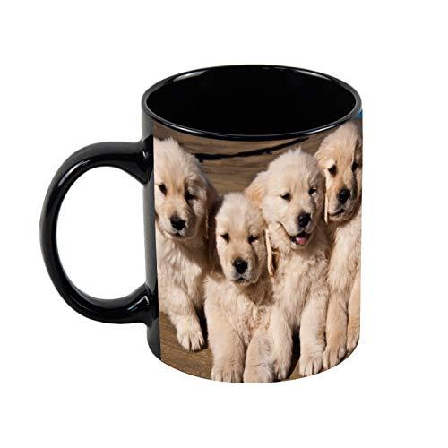 Taza de café de cerámica negra de 325 ml, única taza de café y té, regalo de Navidad para ella, regalo de amigo