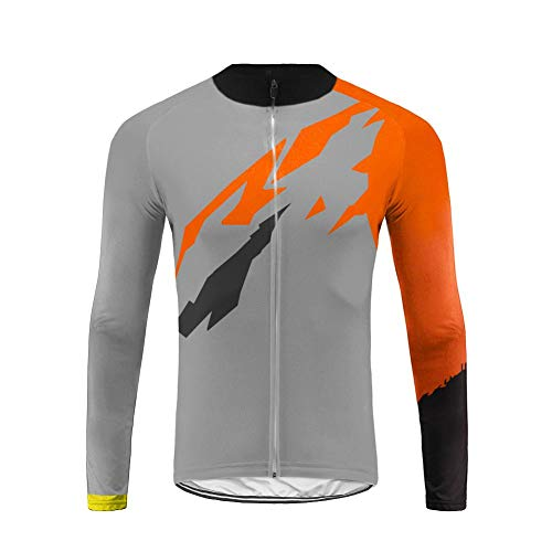 Future Sports UGLYFROG Diseños más Nuevos Maillot Bicicleta Hombre Manga Larga MTB,Maillot Ciclismo Hombre Otoño Transpirable Top