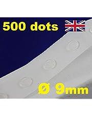 500 punktów klejących samoprzylepne rzemiosło przezroczyste narzędzie do robienia kart usuwalne 9 mm GLU DOTS mocne